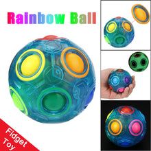 Load image into Gallery viewer, Luminous Stress Reliever Magic Rainbow Ball Fun Cube Fidget Puzzle Education Toy