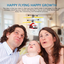Load image into Gallery viewer, Induction Flying Toys Mini RC Helicopter Cartoon Remote Control Drone Aircraft for Kid Plane Toys Floating Toys Boy Gift