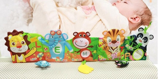 1pcs Jollybaby Baby bed around and cloth book with animal model baby lovely toys for baby bed