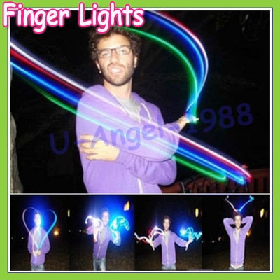 20pcs/lot 4 color LED finger light ,Leaser finger lamp,chrismas night light,flashing children toy party toy(5 set)