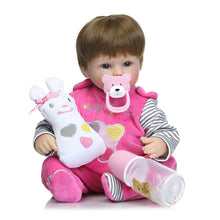 Load image into Gallery viewer, 40cm Silicone Reborn Baby Simulation Doll Toy Newborn Magnetic Mouth Lifelike Girl Toy Gift of Birthday Princess Toy Doll