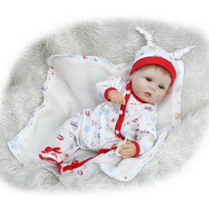 Lifelike Reborn Baby Doll 42cm Newborn Doll Kids Girl Playmate Birthday Gift