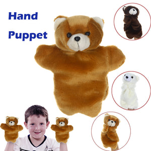 Cute Cartoon Animal Doll Kids Glove Hand Puppet Plush Finger Toys Bear