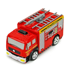 Kids Remote Control Fire Truck Toy DIY Rechargeable RC Construction Toys with Light
