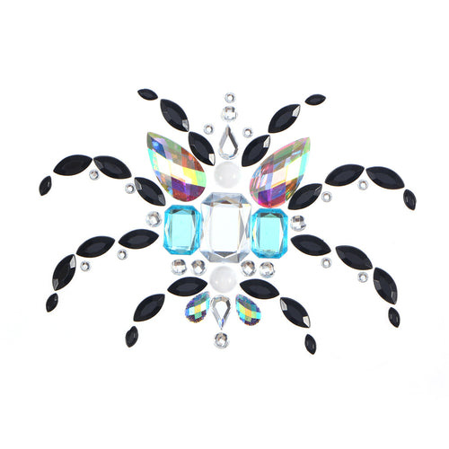 Crystal Breast Pasties Spring Autumn Acrylic Diamonds Sticking Art Carnival Party Breast Stickers with Non-toxic Back Glue