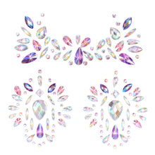 Load image into Gallery viewer, Crystal Breast Pasties Spring Autumn Acrylic Diamonds Sticking Art Carnival Party Breast Stickers with Non-toxic Back Glue