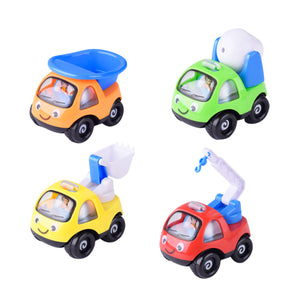4pcs Baby Toy Cars Early Educational Construction Vehicles Trucks Toy Car Sets for Toddlers