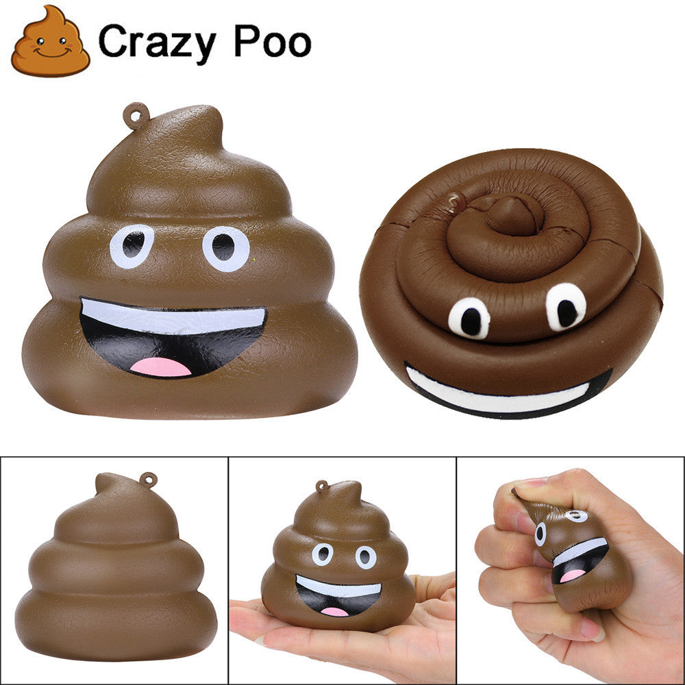 Squishies Exquisite Fun Crazy Poo Scented Charm Slow Rising Stress Reliever Toy