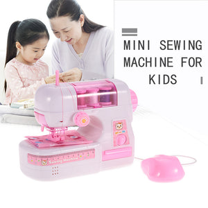 Electric Sewing Machine Toy with Light Kids Pretend Play Sewing Toy for Kids Role Play