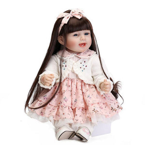 Lifelike Reborn Baby Doll 55cm Newborn Doll Kids Girl Playmate Birthday Gift