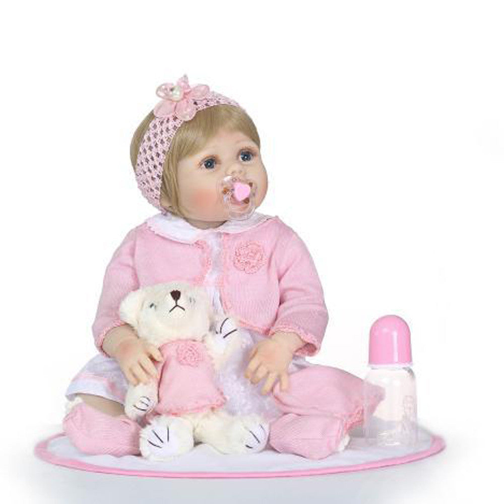 Lifelike Reborn Baby Doll 57cm Newborn Doll Kids Girl Playmate Birthday Gift