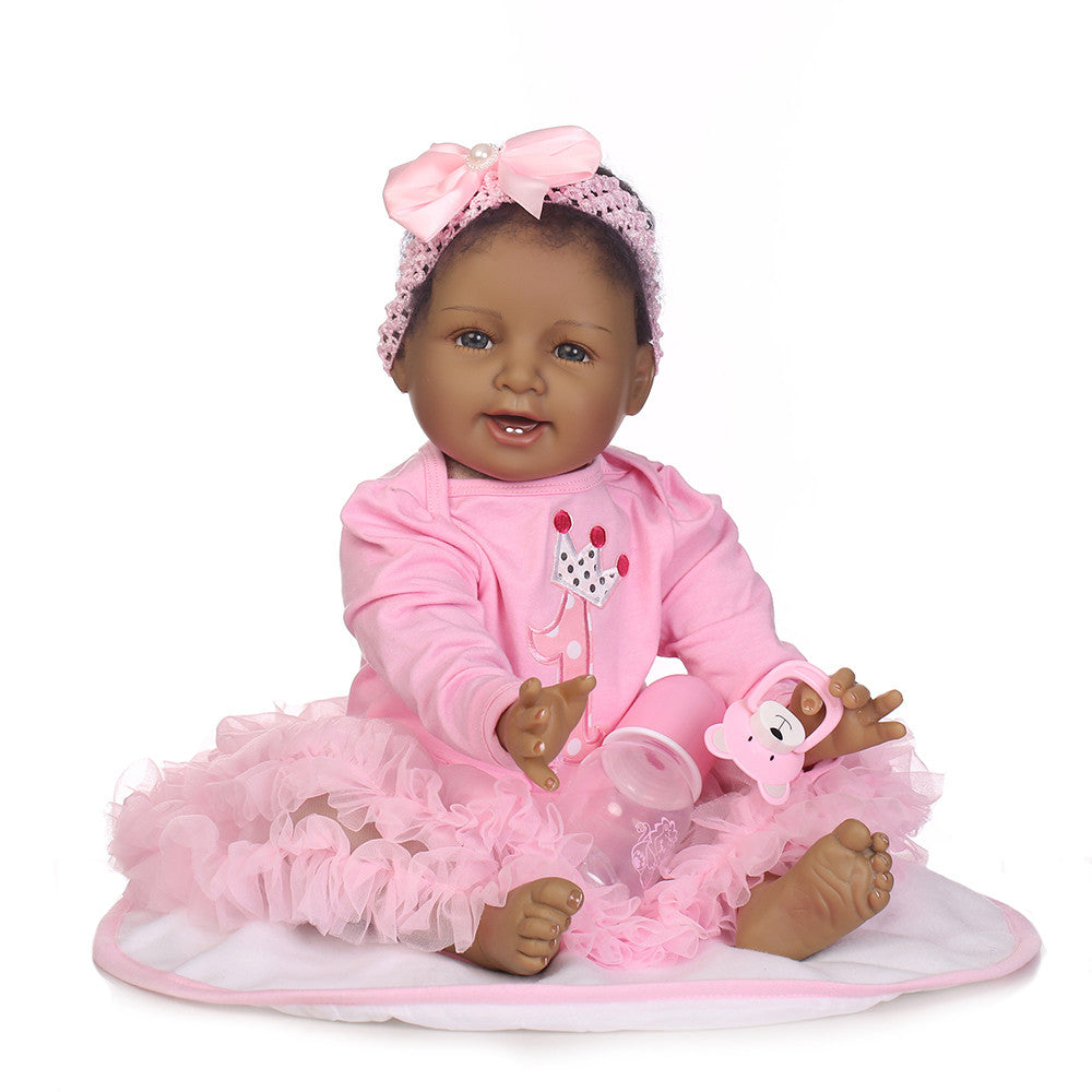 Reborn Baby Doll Girl Rebirth Doll Toddler Real Lifelike 22 Inch Babies Art Doll Kids Gift
