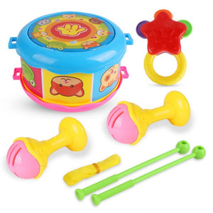 Fashion Toy Musical Instrument Puzzle Beat Toy Children Musical Instrument Pat Drummer Rattle Suit Combination