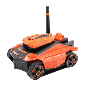 YD-211 Wifi FPV Camera RC Car App Remote Control Tank High Definition Photos and videos RC Robot Tank RC Car Toy Phone Controlled Toy (Orange)