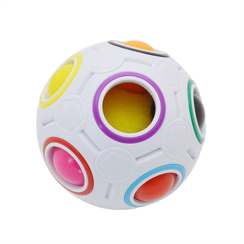 Magic Rainbow Ball Cube 3D Puzzle Toys Educational Fidget Balls for Intelligent Kid's Playtime