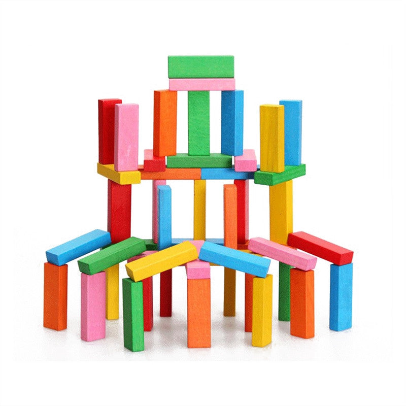 Wooden Stackable Building Blocks Set Balancing Games Playset Toys Educational Toys for Kids Children