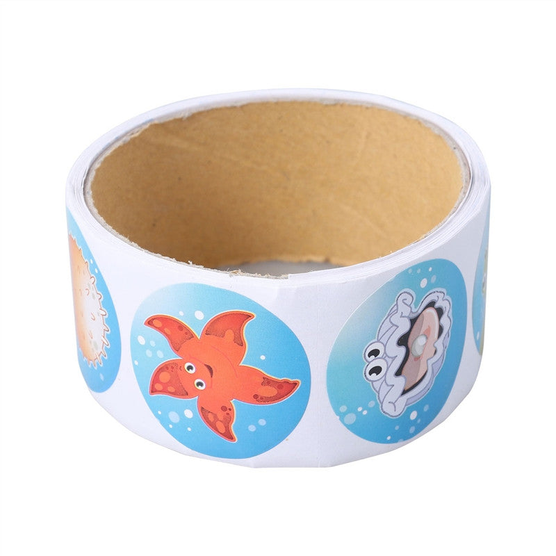 3.8CM Colorful Fish Sticker Roll Cartoon Tropical Fish Style Wall Stickers Decals for Kids Party Birthday Gift Decoration
