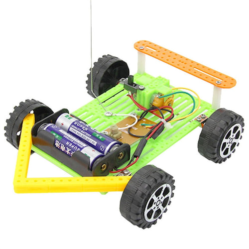 DIY Wireless RC Car Model Kit Kids Handmade Assembly Toy Funny Technology Scientific Educational Toys