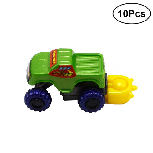 10pcs DIY Assembly Off Road Racing Car Kids Educational Building Block Simulation Car Model Truck Toys (Random Color)