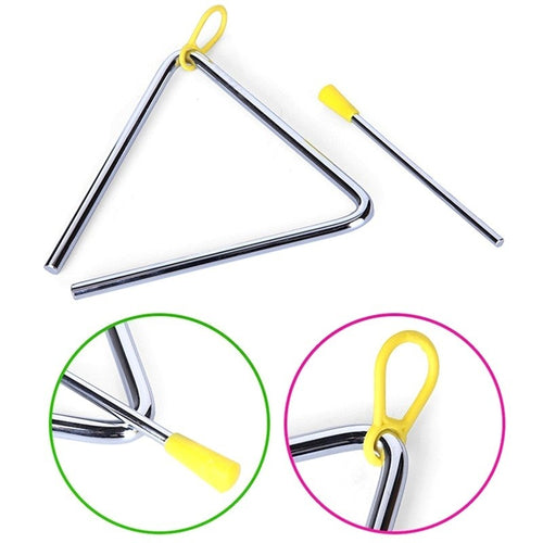 Kids Toy Percussion Musical Instrument Alloy Triangle