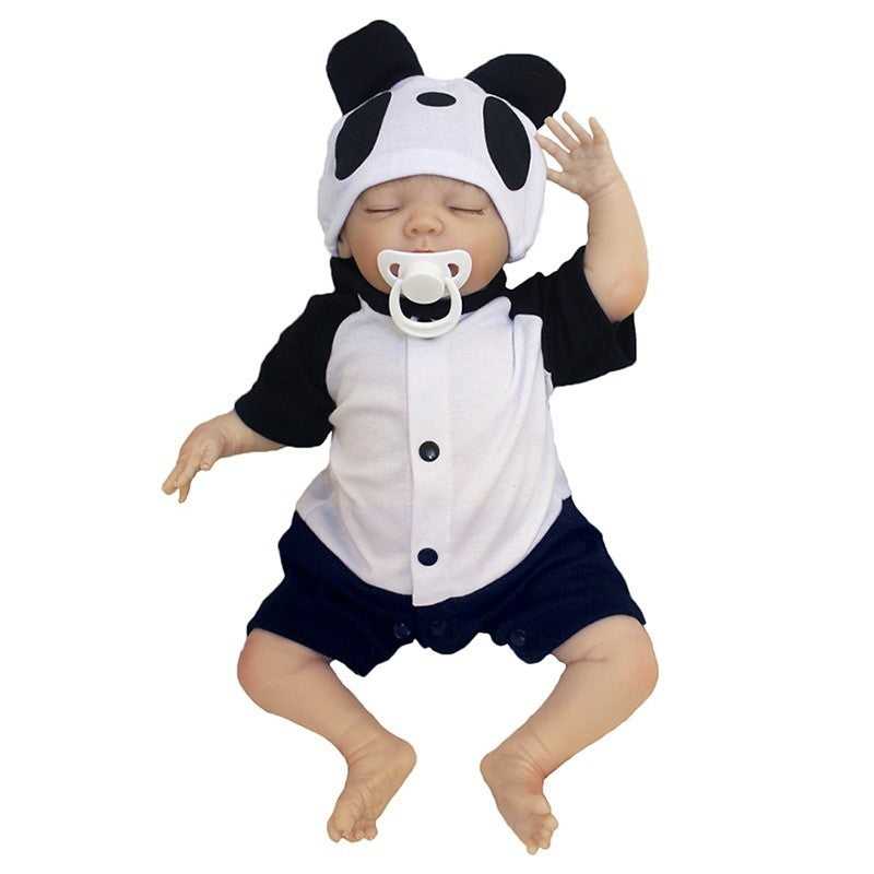 Realistic Reborn Doll Silicone Vinyl Reborn Baby Doll for Girls Toys Gift 19 Inch Reborn Dolls Babies Bonces Educational Toys