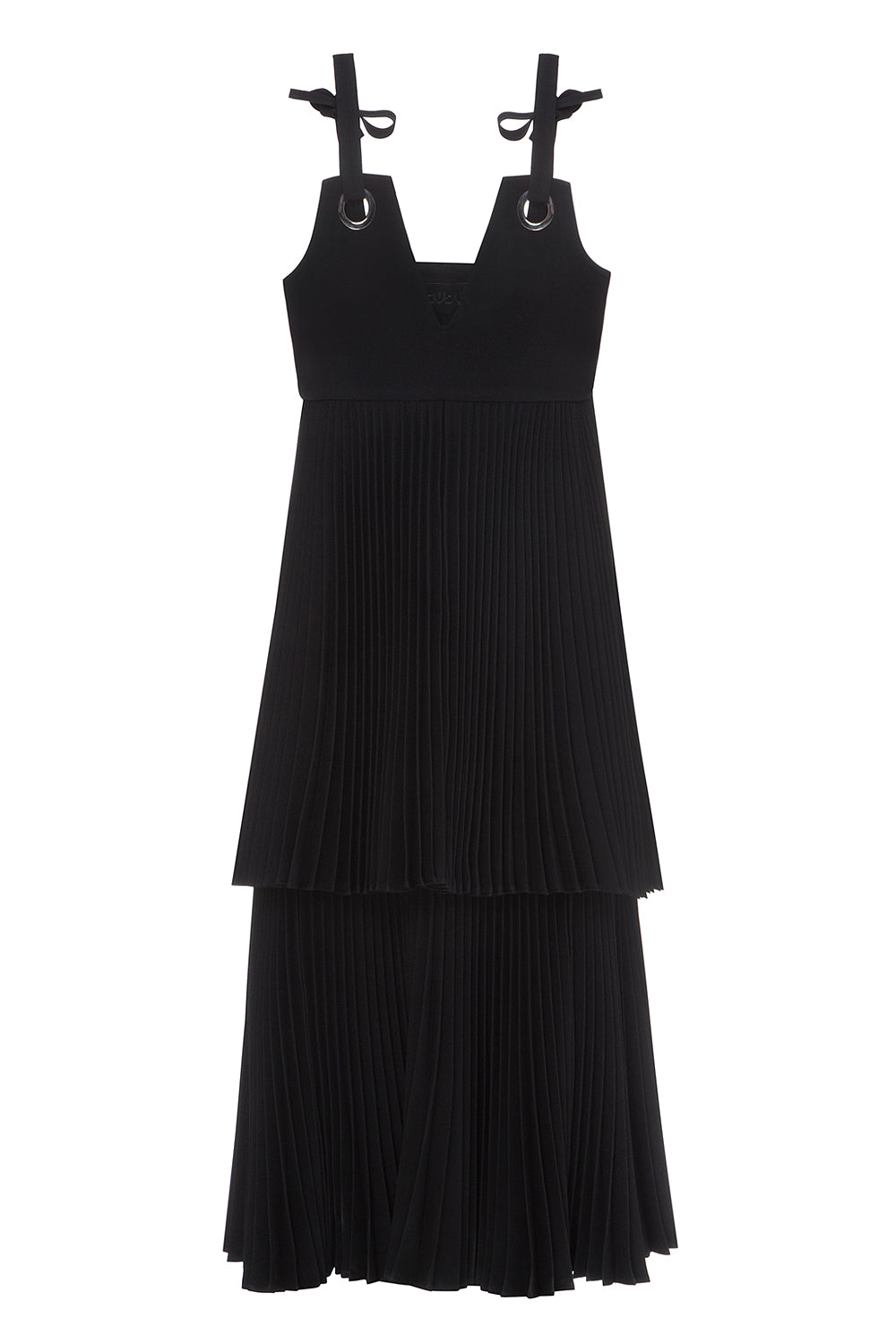 Tiered Plissé Sundress