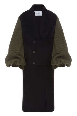 Knitted Sleeves Coat
