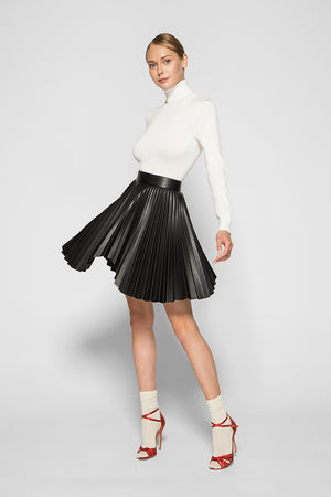 Black PLEATED MINI SKIRT