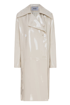OffWhite Patent Leather Coat