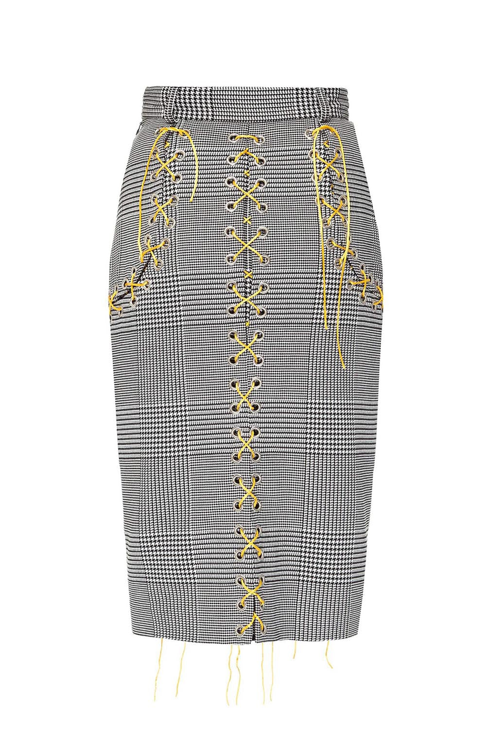 Skirt with lacing