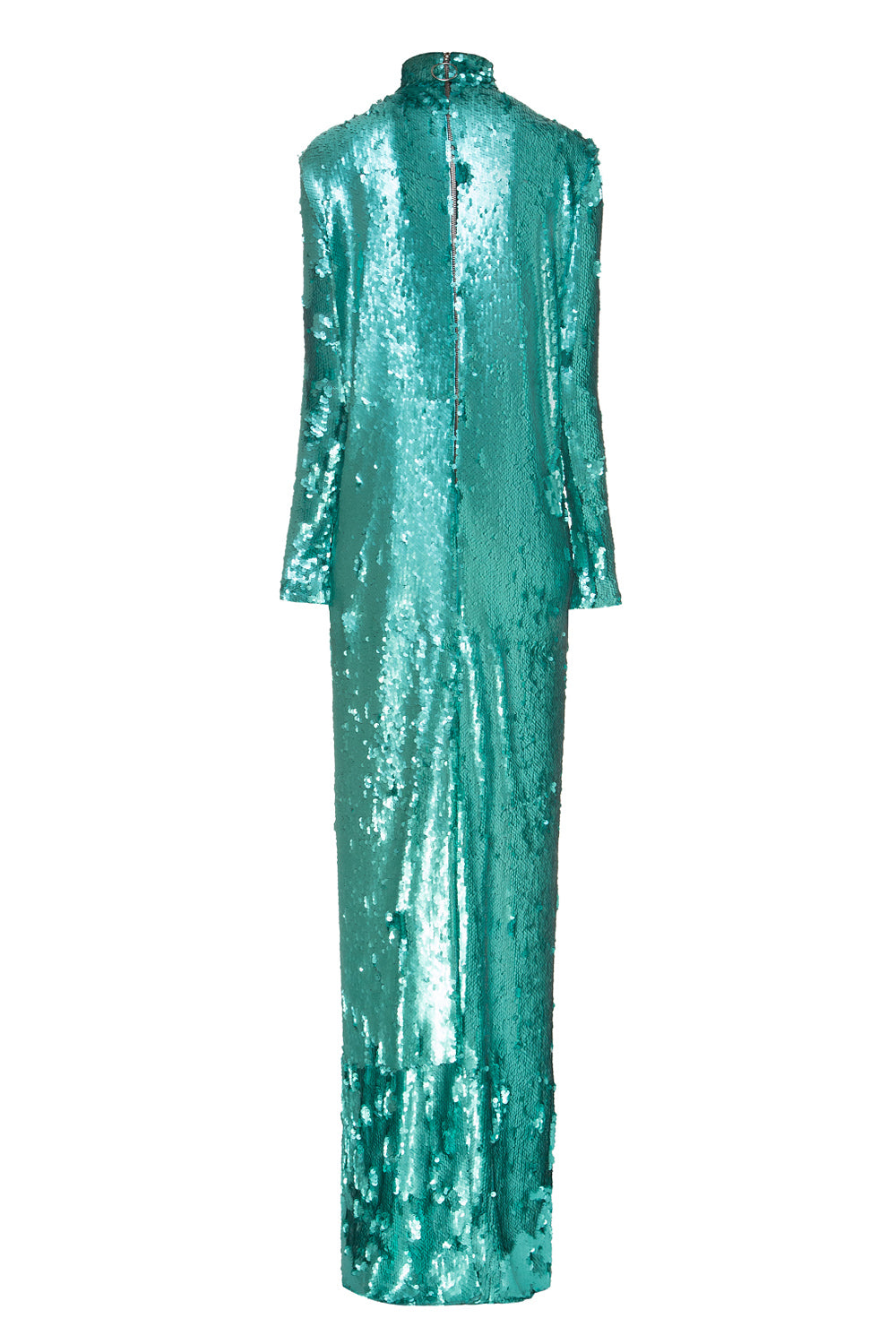 Turquoise  Sequin Gown