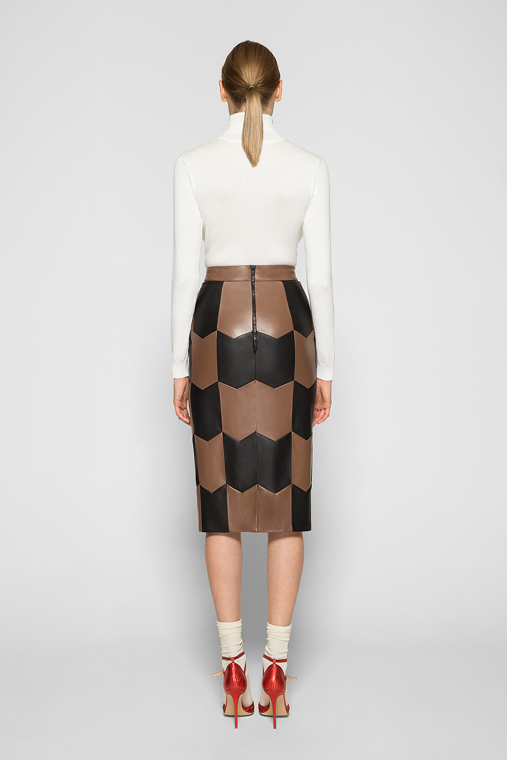 CHEVRON PATCHWORK SKIRT