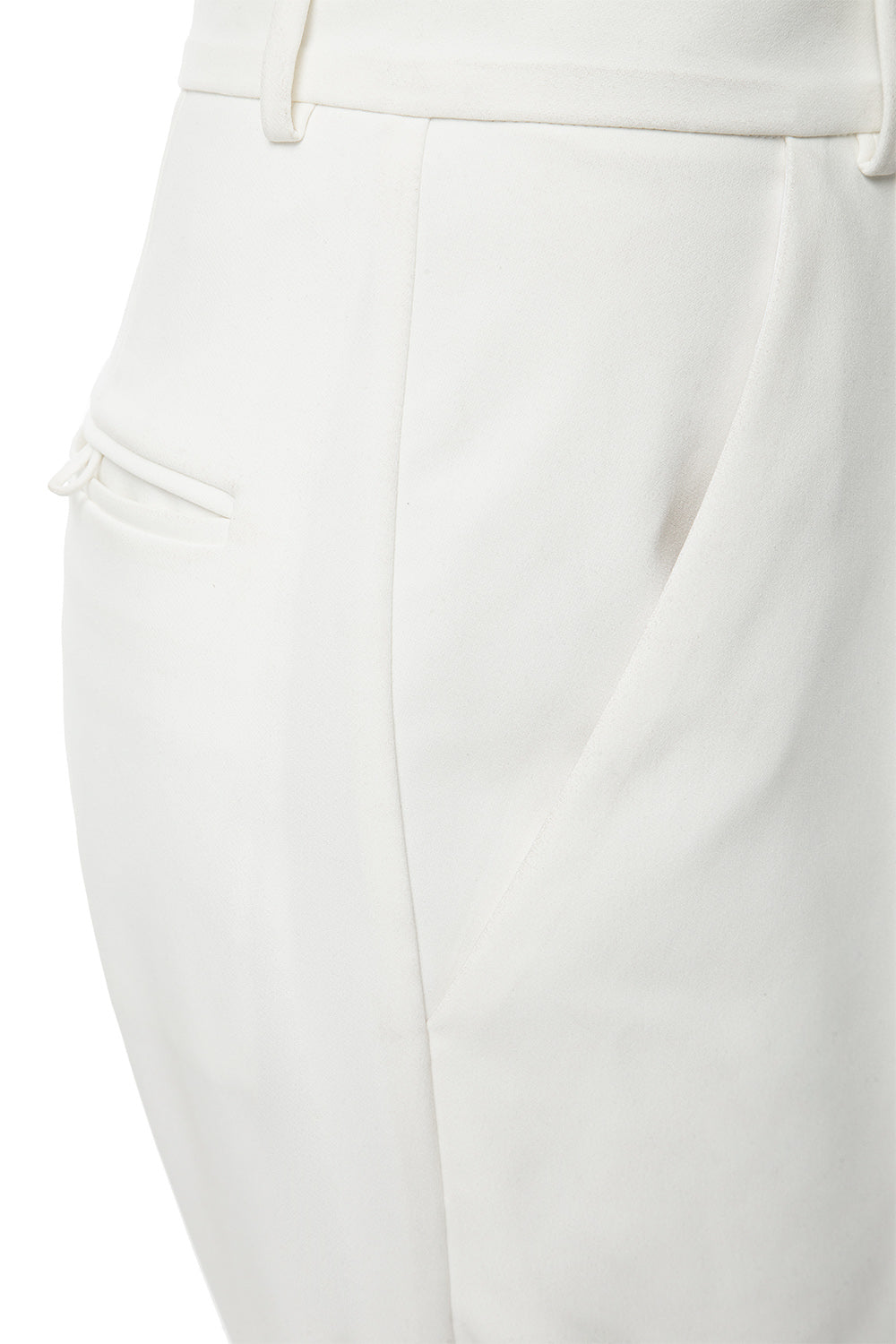 White Wide-leg Trousers