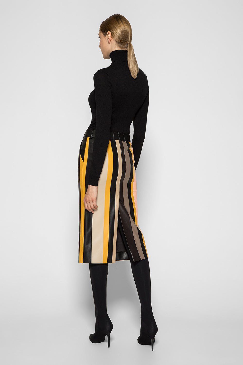 STRIPE PATCHWORK SKIRT