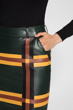 PENCIL PATCHWORK SKIRT