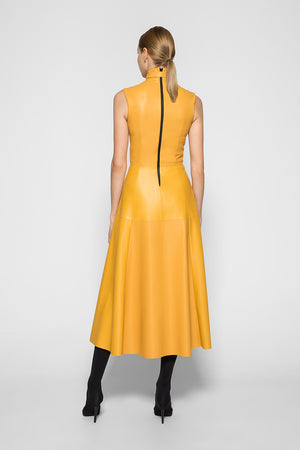 Yellow VENUS MIDI DRESS