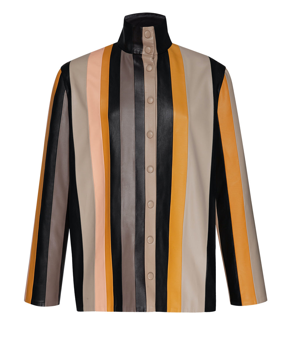 STRIPE PATCHWORK SHIRT