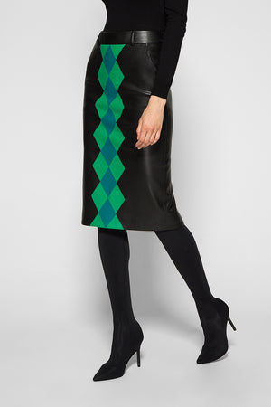 MOSAIC PATCHWORK PENCIL SKIRT