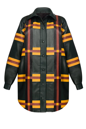 CHECK PATCHWORK JACKET
