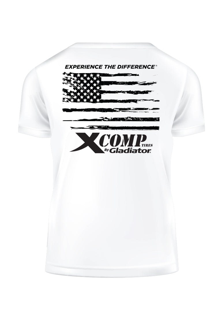 X Comp Flag Tee (White)