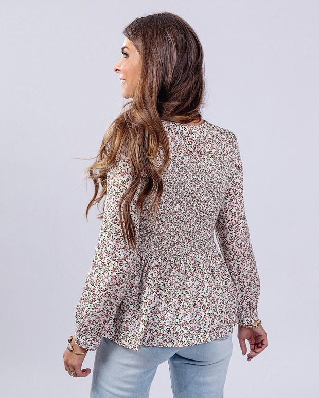 SIMPLY DARLINGS X LINC BOUTIQUE Floral Fields Top