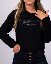 SIMPLY DARLINGS X LINC BOUTIQUE I Choose Love Vintage Cropped Hoodie