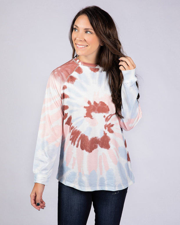 Cotton Candy Sweatshirt- Red