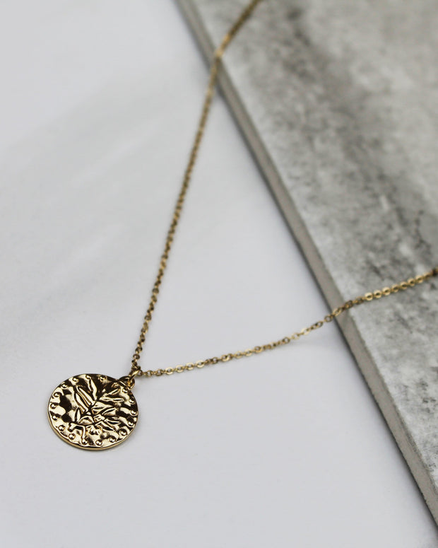 Leaves are Falling Gold Necklace