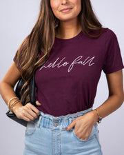 SIMPLY DARLINGS X LINC BOUTIQUE Hello Fall Tee