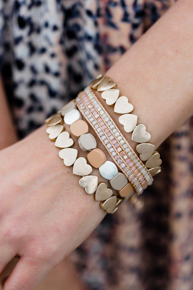Peachy Heart Bracelet