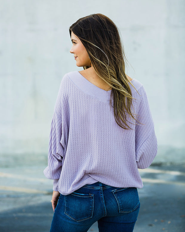 All About Lavender Top