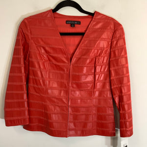 Lafeyette 148 Leather Blazer Size S NWT