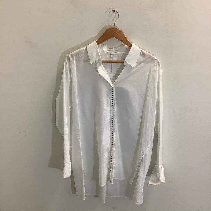 Escada White Blouse Size 40 NWT