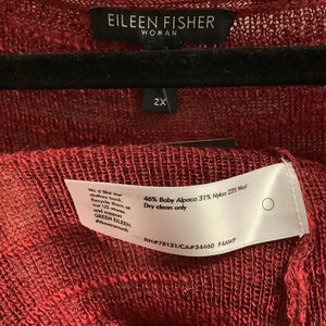 Eileen Fisher Red Sweater Size 2X